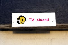 Signe de personnel de chaîne de télévision Images stock