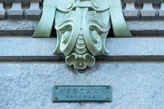 Signe de perspective de Nevsky Photos stock
