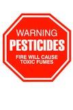 Signe de pesticide Photos libres de droits
