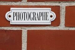Signe de Photographe Photos stock