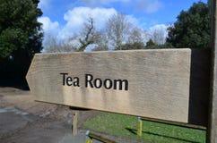 Signe de pièce de thé. Photographie stock libre de droits