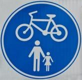 Signe de piste cyclable Photos libres de droits