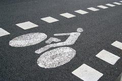 Signe de piste cyclable Photos stock
