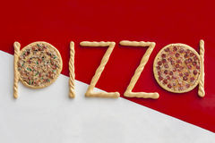 Signe de pizza Photos stock