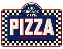 Signe de pizza de Chicago illustration libre de droits