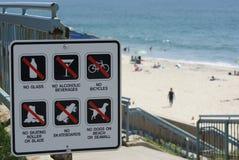 Signe de plage Images stock