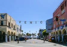 Signe de plage de Venise Images stock
