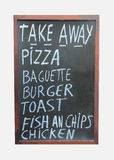 Signe de plats à emporter Image libre de droits