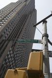 Signe de plaza de Rockefeller Images libres de droits