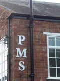 Signe de PMS Photographie stock libre de droits