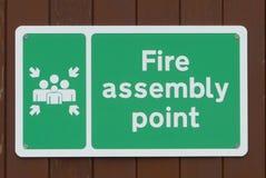 Signe de point d'incendie Photos libres de droits