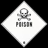 Signe de poison Images libres de droits
