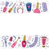 Signe de poli de bannière de pédicurie de manucure de studio d'ongle illustration stock