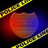 Signe de policier illustration stock