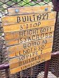 Signe de pont en barrage Image libre de droits