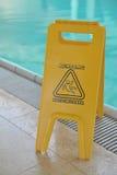 signe de poolside d'attention Photo libre de droits