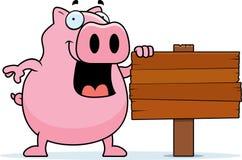 Signe de porc illustration stock