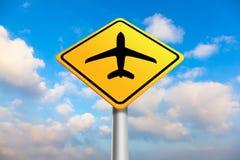 Signe de port d'air Photos stock
