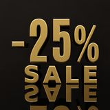 Signe de 25 pour cent Illustration Stock