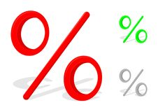 Signe de pour cent Image libre de droits