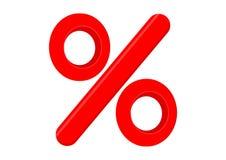 Signe de pour cent Photo stock