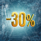 Signe de 30 pour cent Photographie stock libre de droits