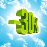 Signe de 30 pour cent Images stock