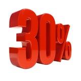 Signe de 30 pour cent Photos stock