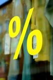 Signe de pour cent au détail de vente de magasin de mode Photographie stock libre de droits