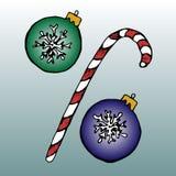 Signe de pour cent de Noël Image stock
