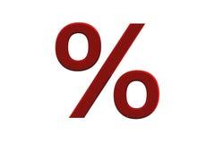 signe de pour cent en céramique de Bourgogne Photographie stock