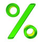 Signe de pour cent en verre Image libre de droits