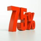 Signe de pourcentage, 75 pour cent Images libres de droits