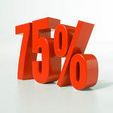 Signe de pourcentage, 75 pour cent Photographie stock libre de droits