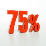 Signe de pourcentage, 75 pour cent Image libre de droits