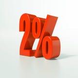 Signe de pourcentage, 2 pour cent Photo libre de droits