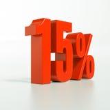 Signe de pourcentage, 15 pour cent Image libre de droits