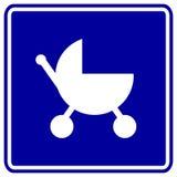 Signe de poussette de chéri Image stock