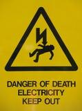Signe de pouvoir de l'électricité Photos libres de droits