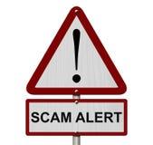 Signe de précaution d'alerte de Scam image libre de droits