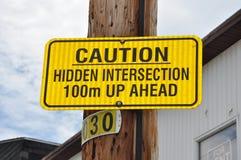 Signe de précaution Photos libres de droits