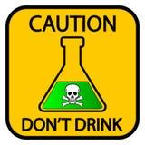 Signe de produits chimiques de danger illustration de vecteur