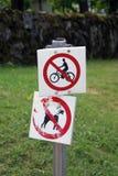 Signe de prohibition Photographie stock