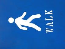 Signe de promenade Photographie stock libre de droits