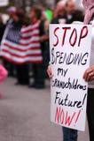 signe de protestataire de gouvernement Image stock