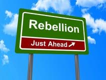 Signe de rébellion juste en avant Image stock