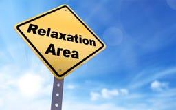 Signe de région de relaxation images stock