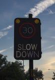 Signe de ralentissement Image libre de droits