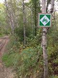 Signe de randonnée à cheval Image stock