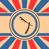 Signe de rasoir droit Photos libres de droits